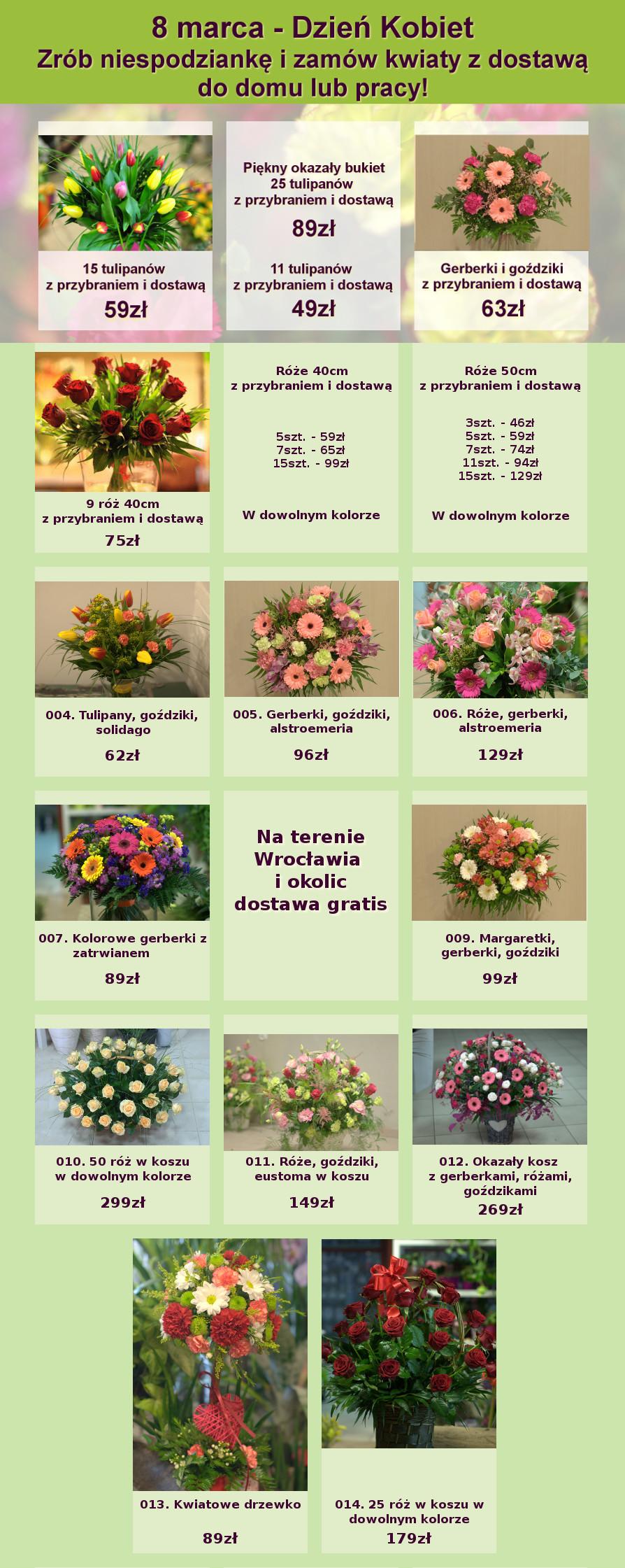 dostawa kwiatow wroclaw